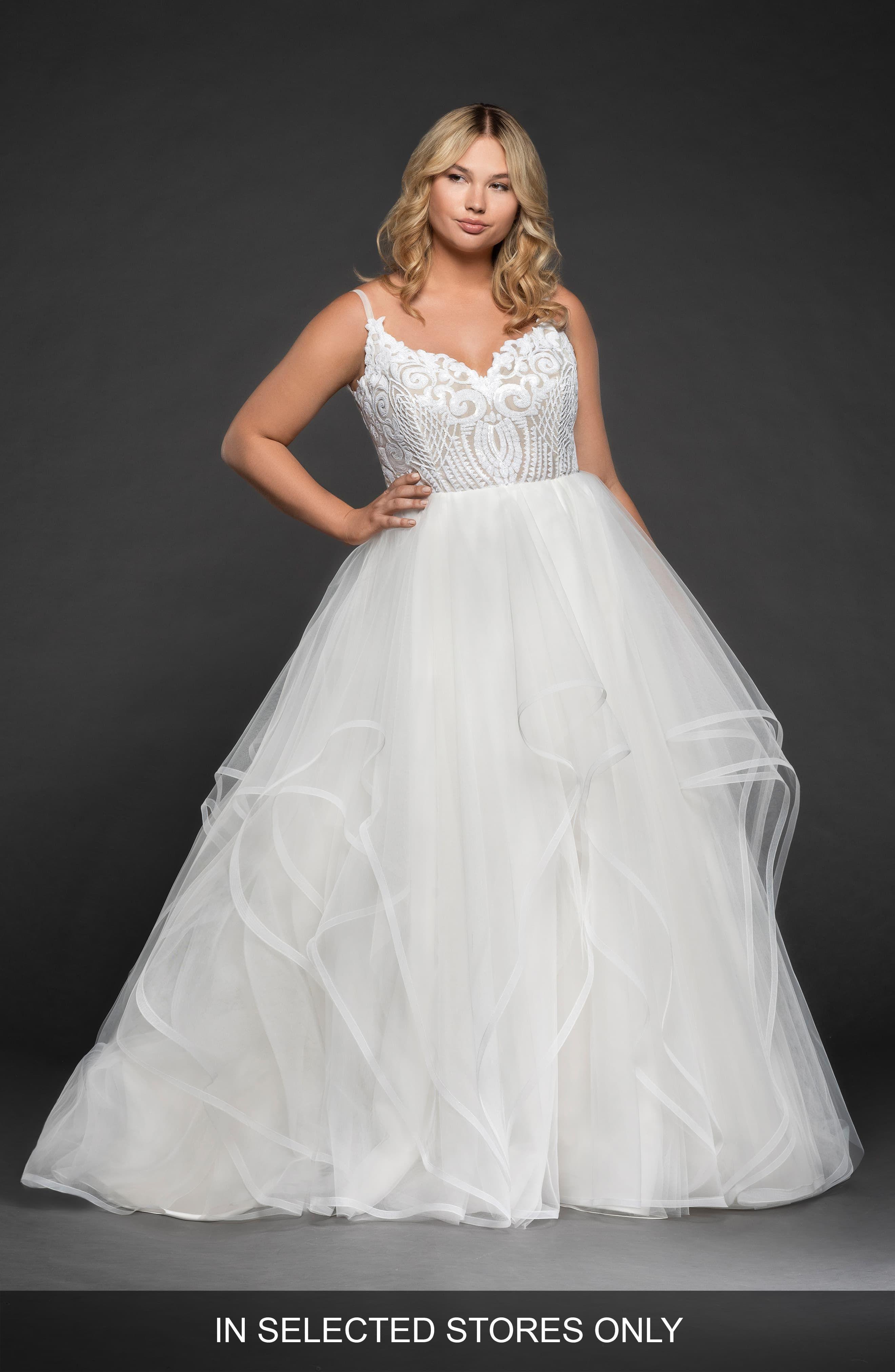 Blush By Hayley Paige Pepper Ballgown Wedding Dress Plus Size Nordstrom Plus Size Wedding Gowns Wedding Dresses Plus Size Blush By Hayley Paige [ 4048 x 2640 Pixel ]