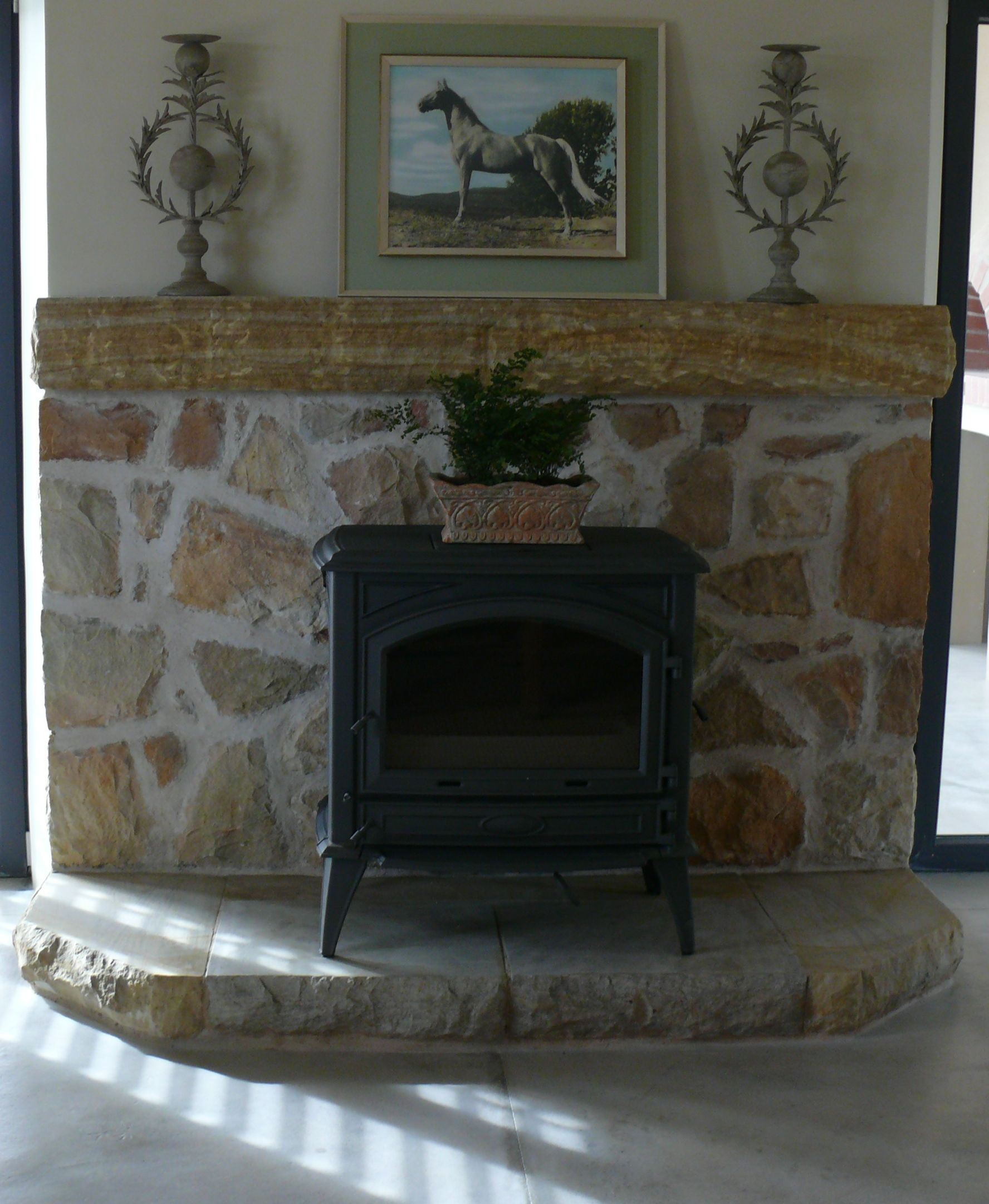 a stone lintel adds a classic ornamental touch to a portal or