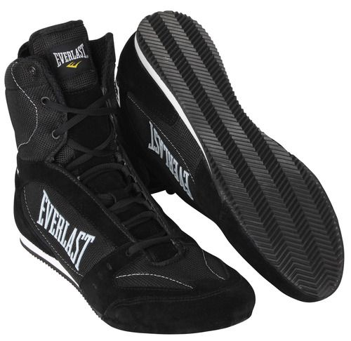 8eb21021c296f Everlast Hurricane High Top Pro Competition Boxing Shoes (Black ...