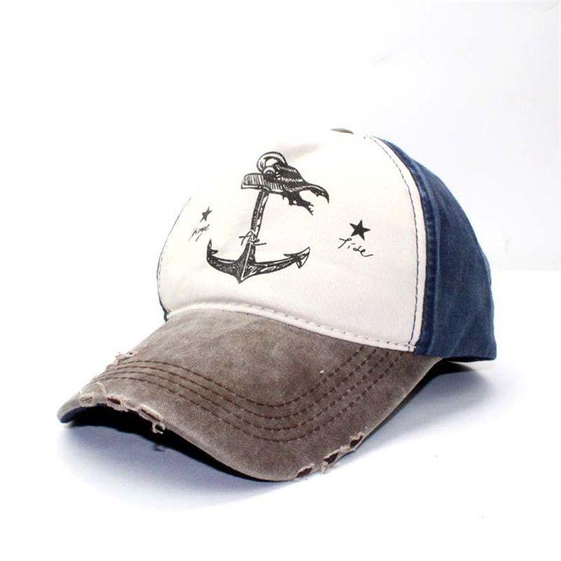 Man Woman Pure Cotton Baseball Caps Do Old Pirate Ship Anchor Gorras Wash Cap