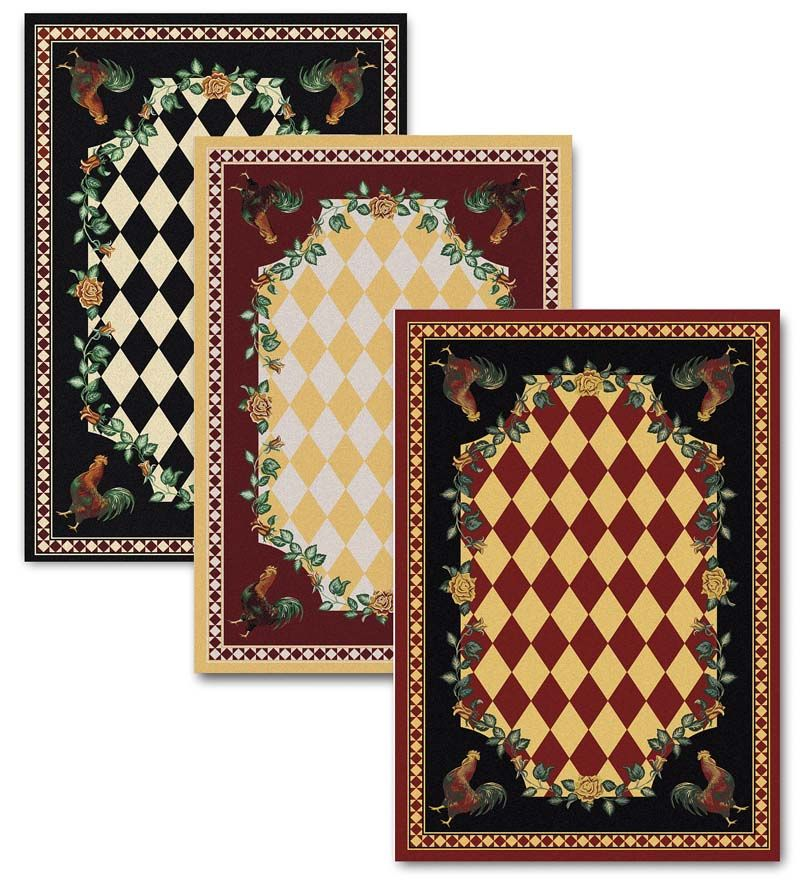 8 High Country Rooster Area Round Rug Collection Accessories