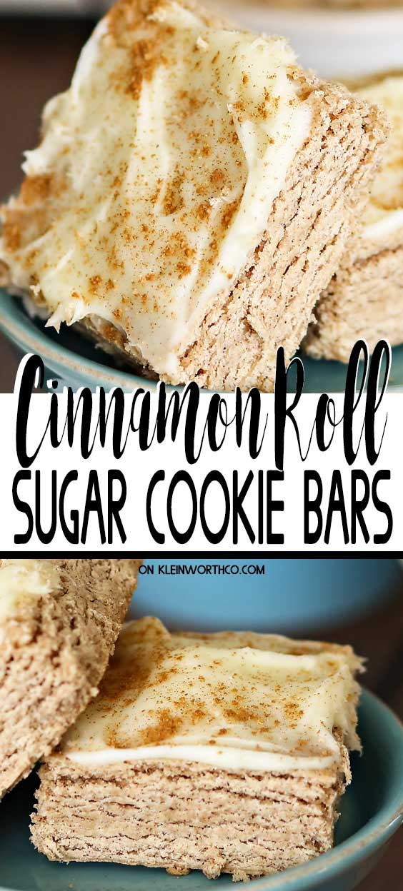 Cinnamon Roll Sugar Cookie Bars #cinnamonsugarcookies