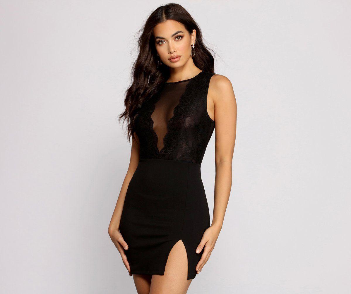 Living For Lace Sheer Mini Dress In 2021 Sheer Mini Dress Mini Dress Clubwear Mini Dress [ 1005 x 1199 Pixel ]