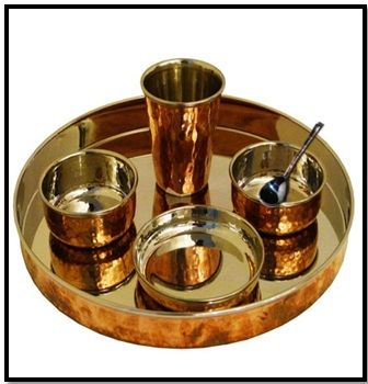 Copper Dinnerware Set   Copper Thali Set $119.99