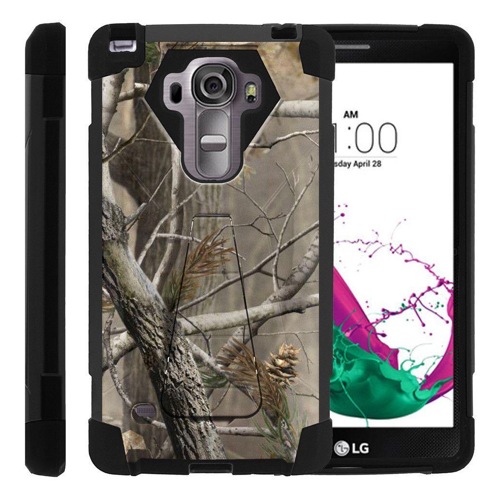 LG Vista 2 Case SHOCK FUSION High Impact Hybrid Dual Layer Kickstand - Hunters Camouflage