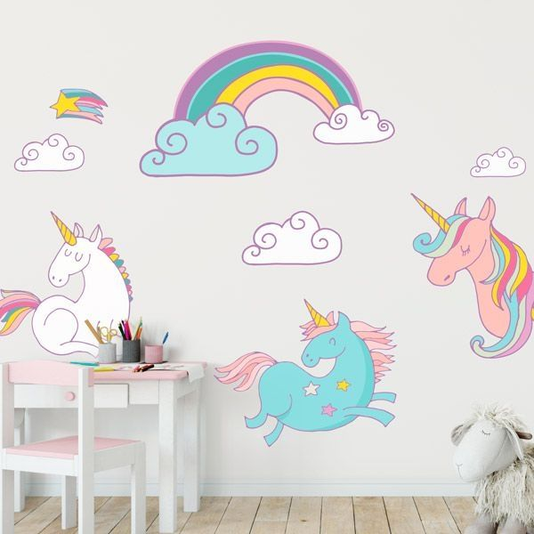 Vinilos unicornios para decorar las habitaciones infantiles habitaciones infantiles cuarto - Decorar habitacion infantil nina ...