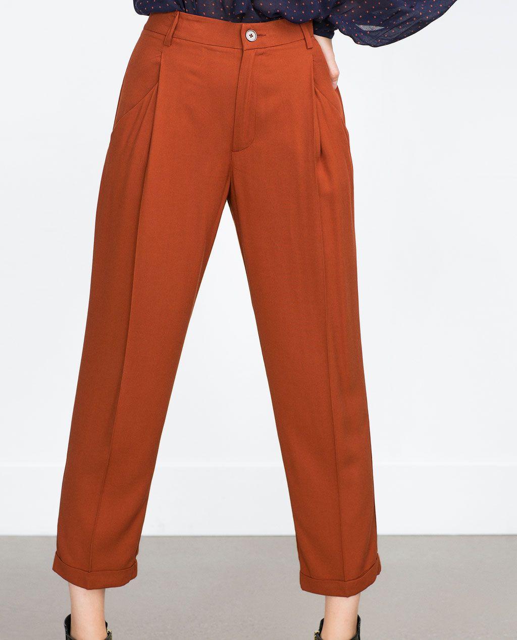 b52b9200adcd2 PANTALON FLUIDO PLIEGUE-Ver todo-Pantalones-MUJER