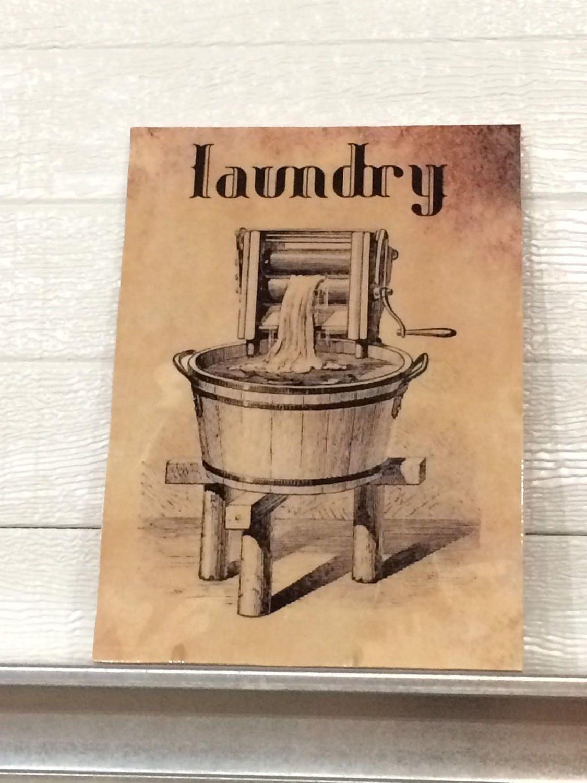 Vintage Laundry Wall Art Vintage Laundry Room Signhamboneswoodworks On Etsy  Vintage