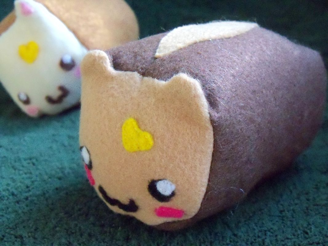 Cute cat bread loaf plushie / plush toy! Plushies, Cat