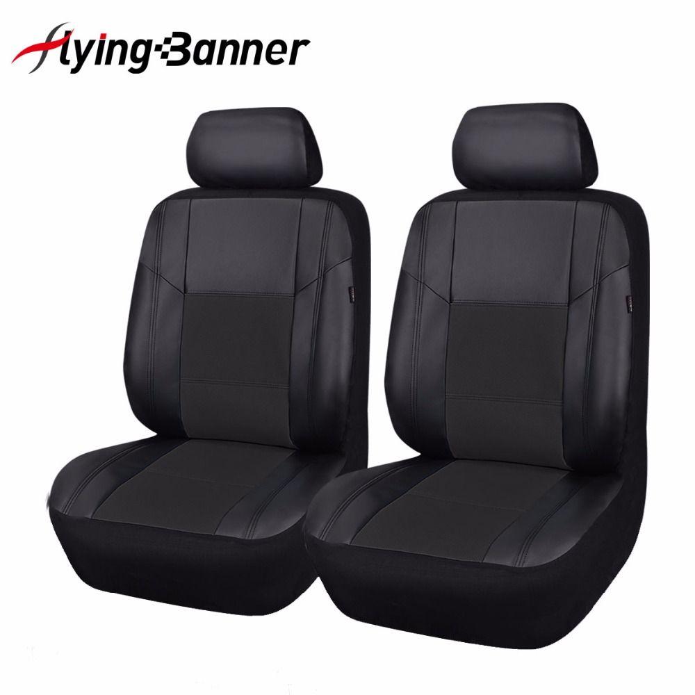 Mewah Pu Kulit Kursi Kursi Mobil Penutup Meliputi 2 Depan Universal Aksesoris Interior Mobil Untuk Leather Car Seat Covers Leather Car Seats Car Seat Protector