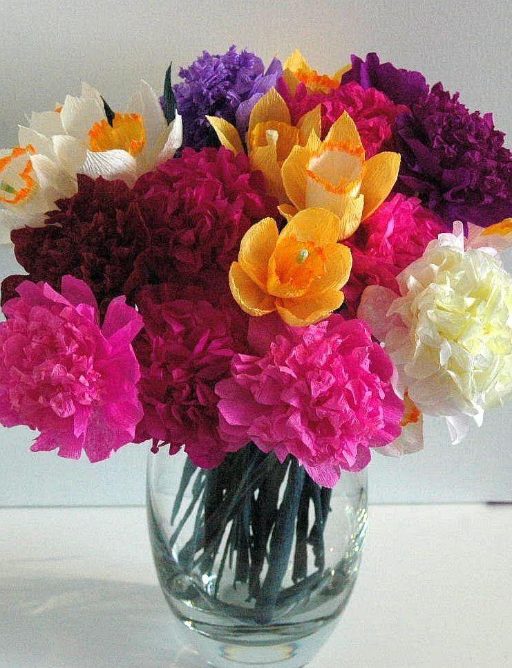 Jak Zrobic Kwiaty Z Bibuly Peonia Peony Diy Paper Flowers Flowers Diy Diy Flowers
