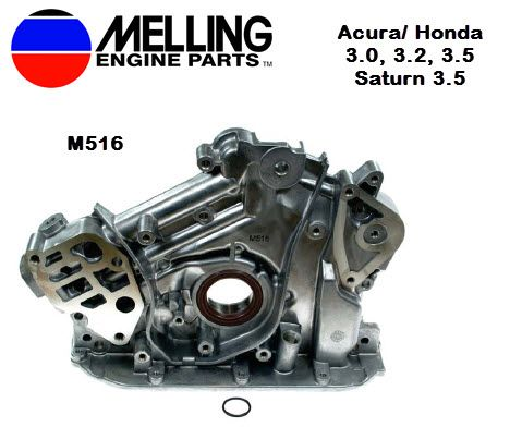 New Melling Oil Pump for Acura, Honda 3 0, 3 2, 3 5, and