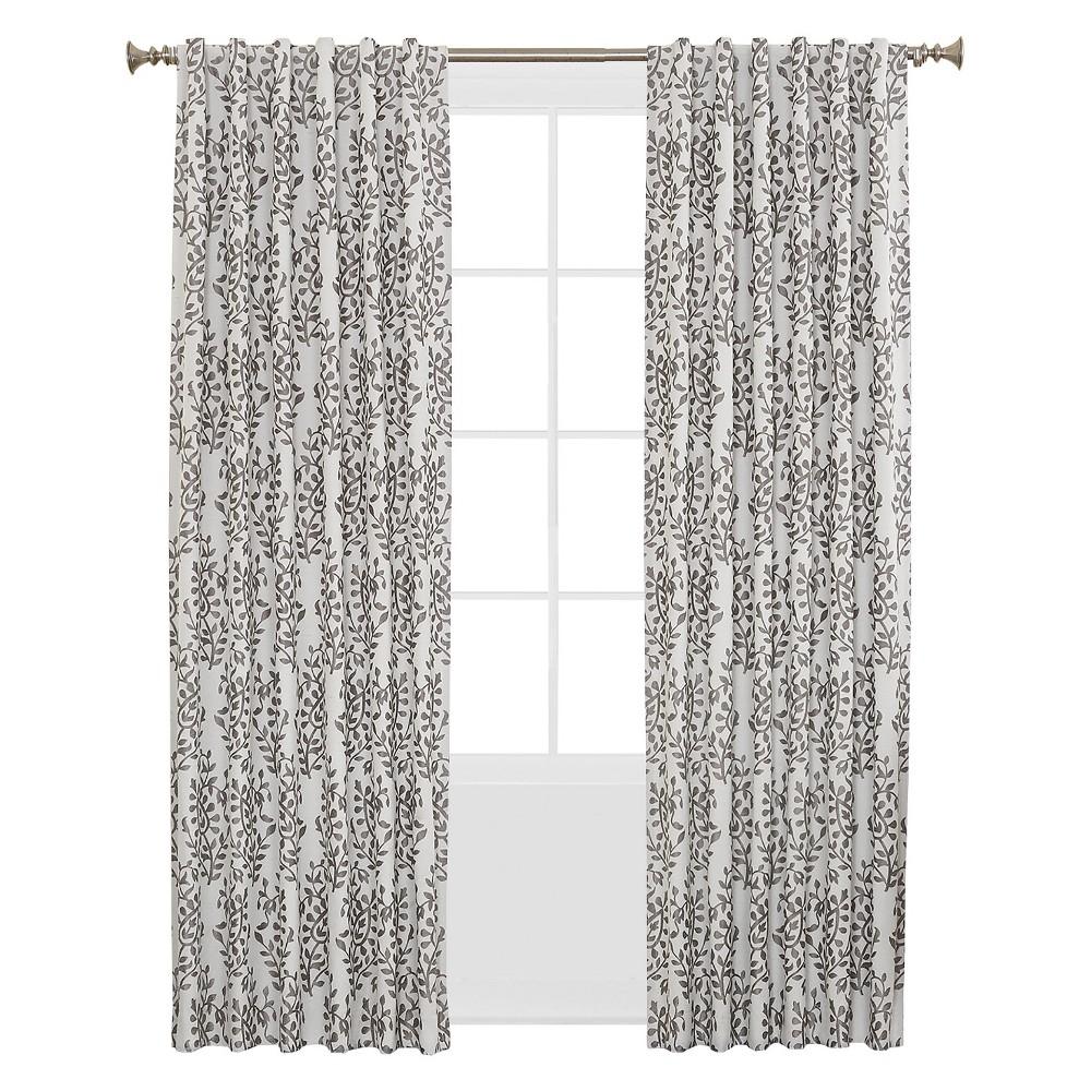 "Sun Zero Rona Room Darkening Lined Back Tab Curtain Panel 52"" x 63"" Iron"