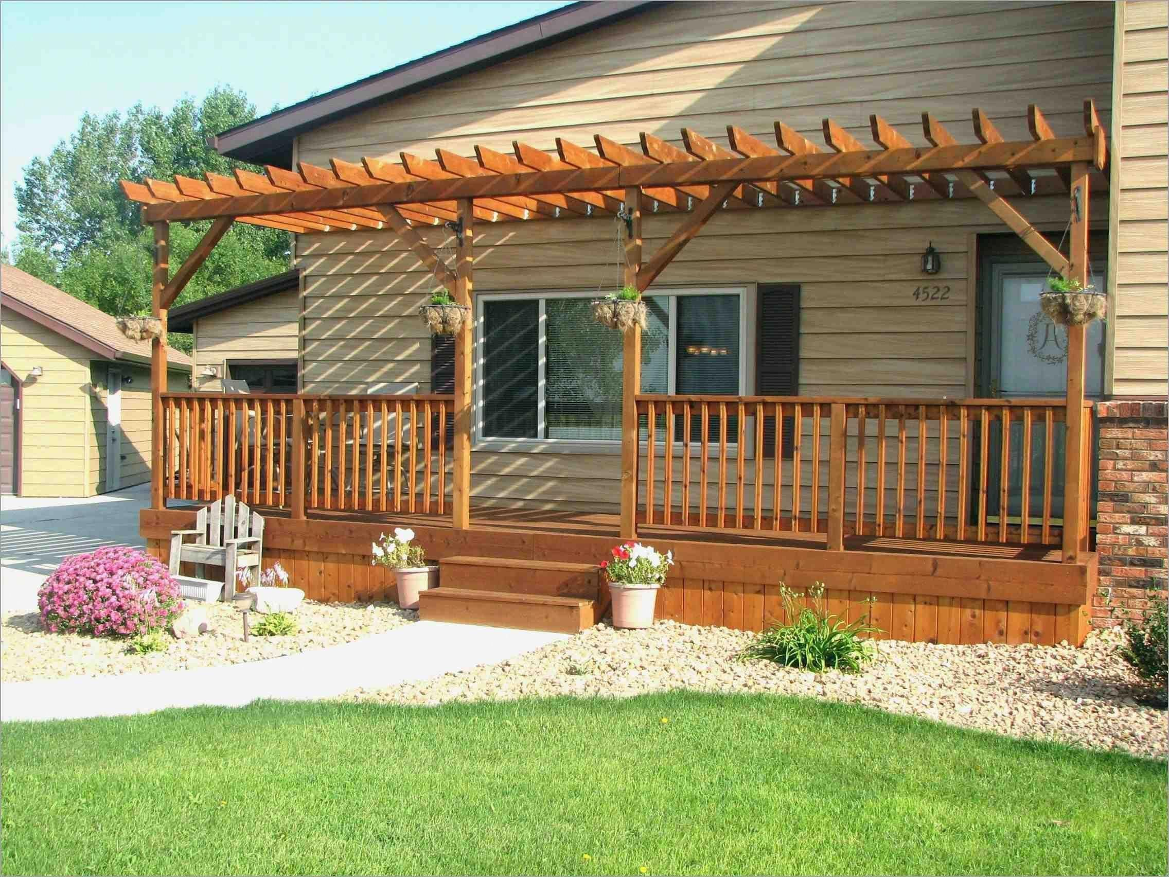 Build Pergola Patio How To A Over Deck Nz Attached Brick House Of