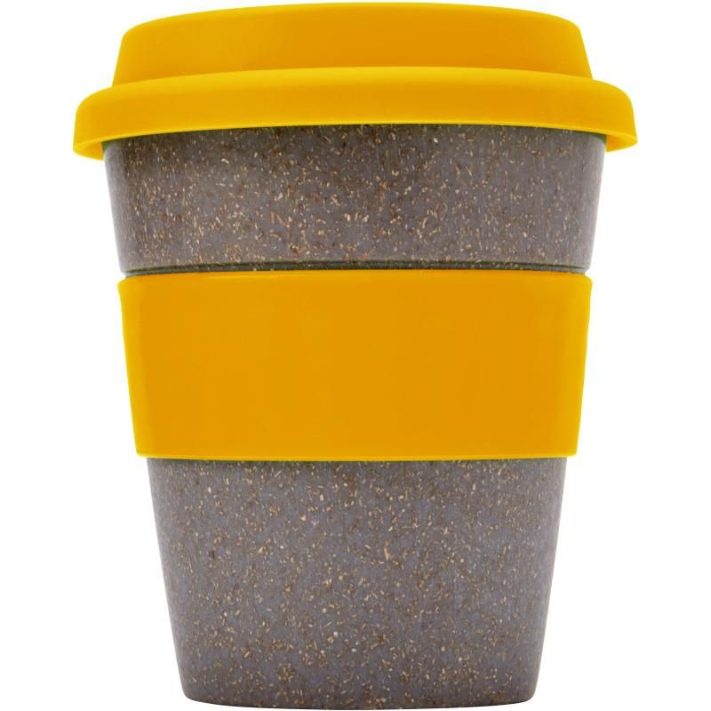 Custom Eco friendly Reusable Bamboo Fiber Travel Coffee Cups