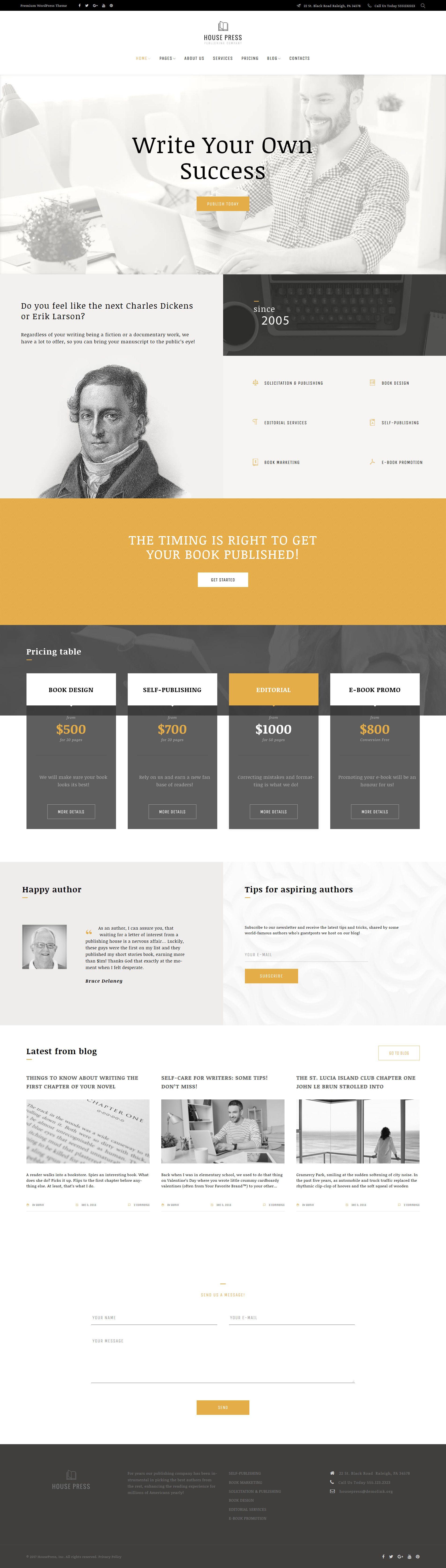 Publishing Company WordPress Theme | WordPress | Pinterest ...