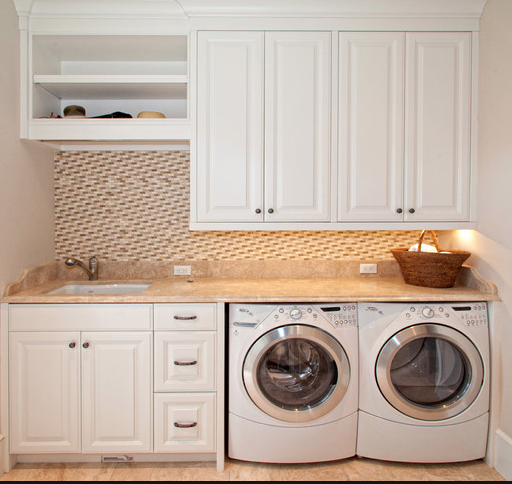 Windows above washer dryer google search laundry room for Bathroom mudroom combo