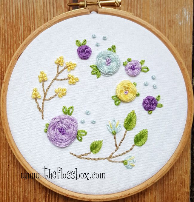 The Floss Box Floral Embroidery Pinterest Floral