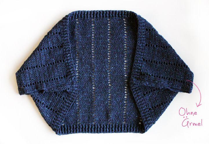 Shrug häkeln mit Lana Grossa Royal Tweed | Kostenlos, Anleitungen ...