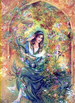 Meditation Middle Eastern Art Fantasy Paintings Miniature Art