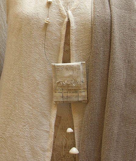 linen pendant necklace -:- AMALTHEE CREATIONS -:-