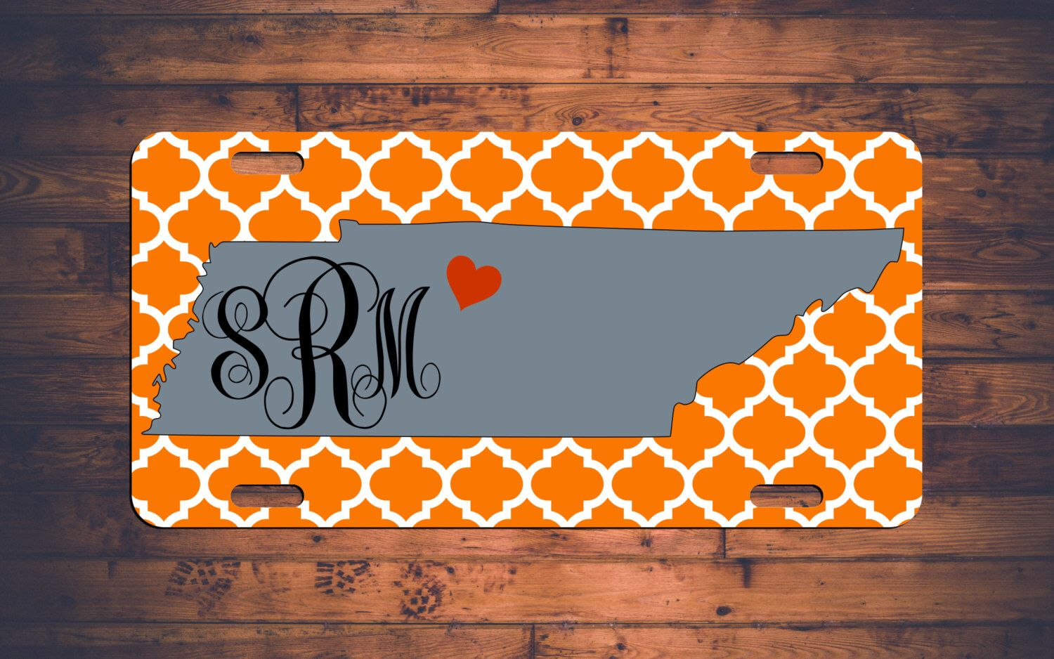 Tennessee Monogram License Plate TN Custom Car Tags Monogrammed Tag ...