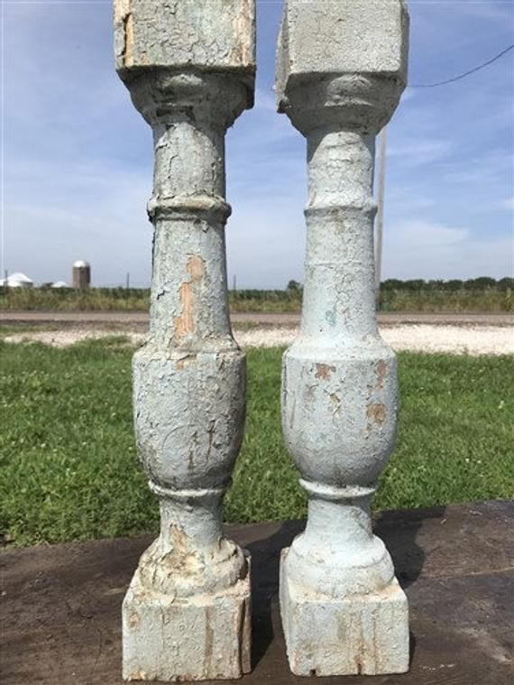 Best Pair Antique French Wood Baluster Spindles Porch Post 400 x 300