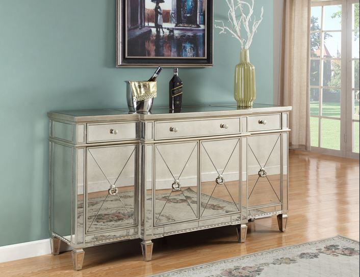 Superior Borghese Mirror Sideboard T1830 # Mirrored Buffet