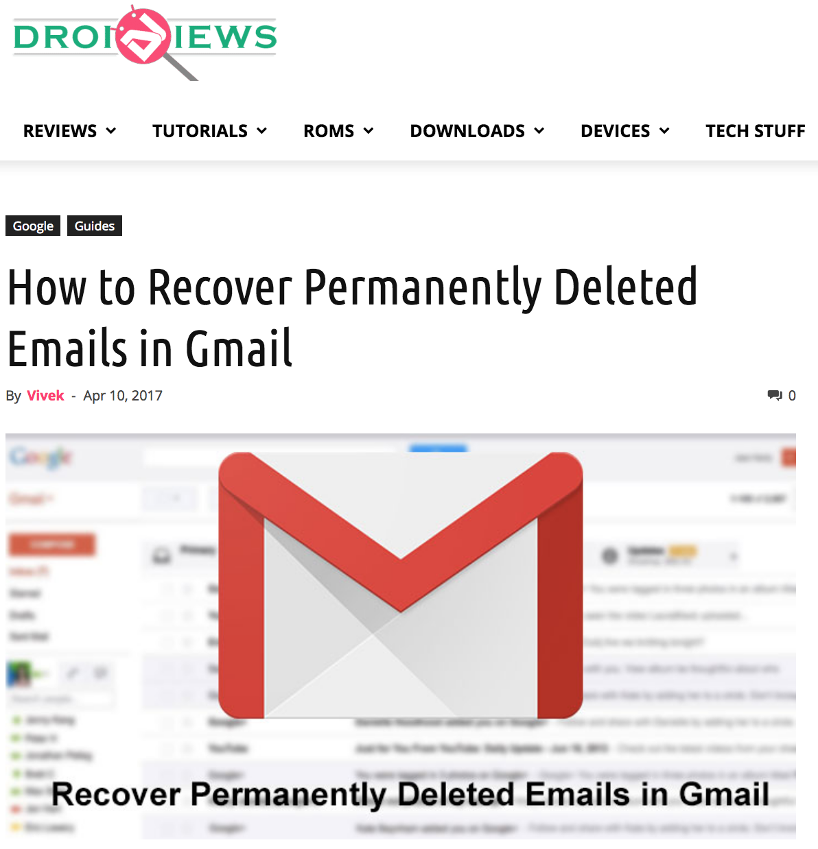 Recover Permanently Deleted Emails In Gmail Tutorial Droidviews App Reviews Tutorial Gmail