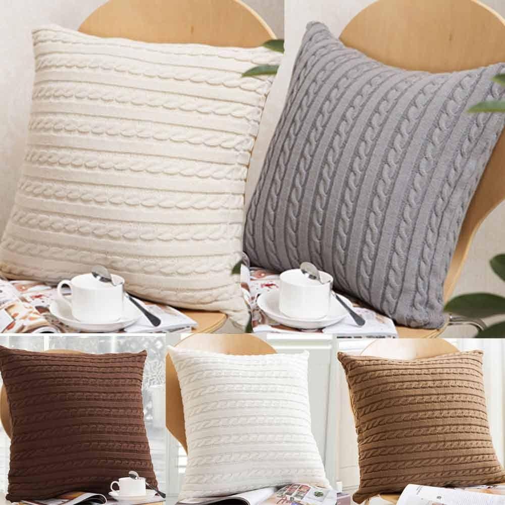 Pas Cher Nouvelle Qualite Mode De Tricotage De Jeter Taie D Oreiller Cafe Canape Housse De Couss Cushions On Sofa Pillow Decorative Bedroom Sofa Cushion Covers