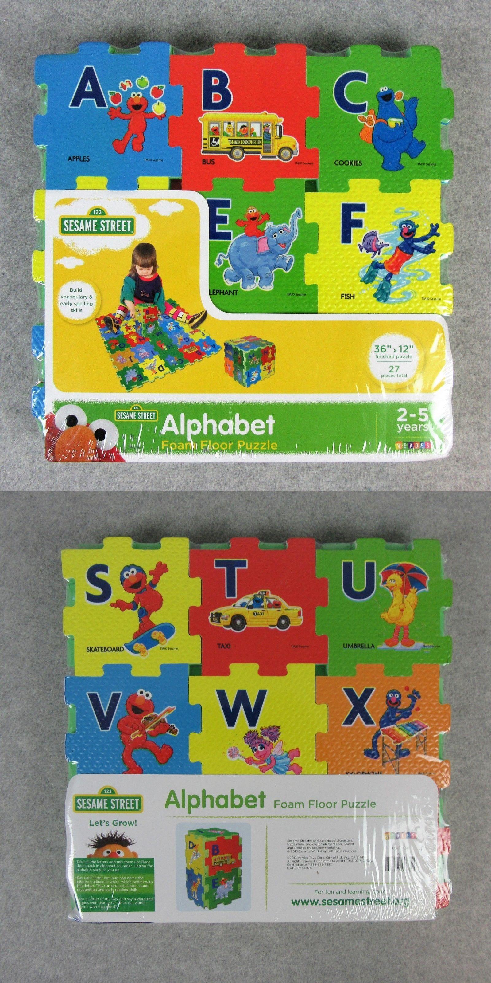 Blocks Tiles And Mats 145931 Sesame Street Alphabet Foam Floor 27 Pieces Puzzle 36 X12 Foam Mat New Buy It Now Only Foam Flooring Sesame Street Flooring