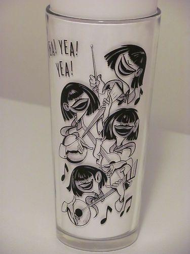 Vintage Beatles Drinking Glass