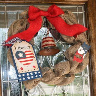July 4th Burlap Wreath by @Cassaundra Lattibeaudiere Lattibeaudiere Lattibeaudiere Lattibeaudiere Lala