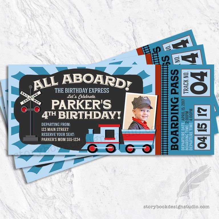 Train ticket birthday invitations train birthday pinterest this whimsical ticket invitation is perfect for a train birthday party or baby shower this invitation can be ordered as a digital file you print yo filmwisefo Choice Image