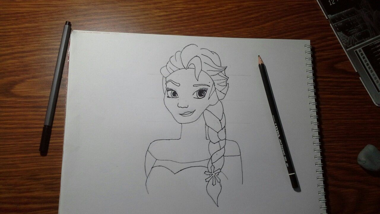 I drew this elsa of a picture
