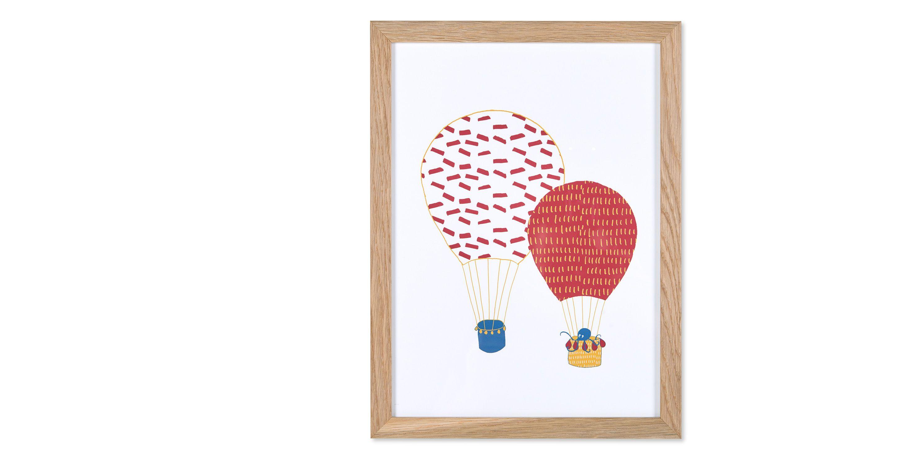 awesome --> gerahmte Kunst - Balloons Kunstdruck (40 x 30 cm), Rot ...