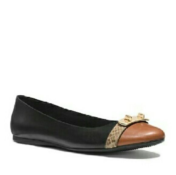 Coach mat calf leather flats, size 7 Authentic coach. New in box. In perfect new condition. True to size 7. Shoebox, care instruction included. Blackand saddle color.  No trade. Coach Shoes