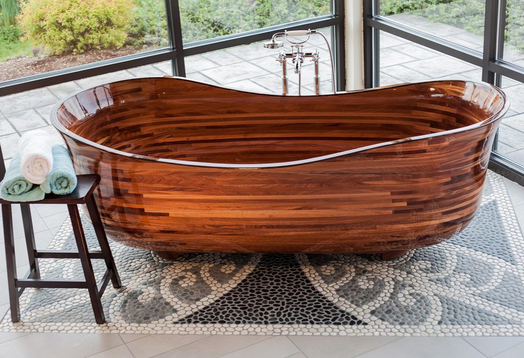 Former Boat Builder Sculpts Breathtaking Wooden Bathtubs Wooden