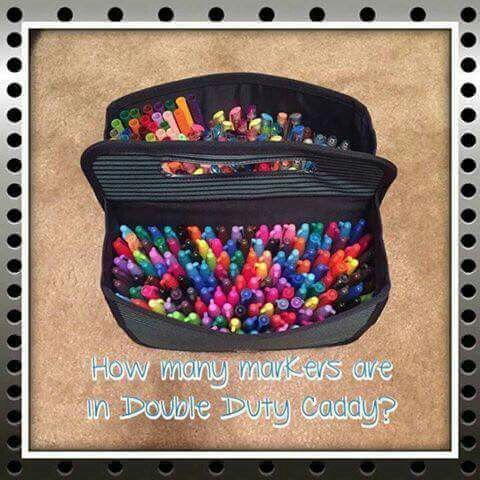 Double Duty Caddy with markers  | Mary's Merry Totes and