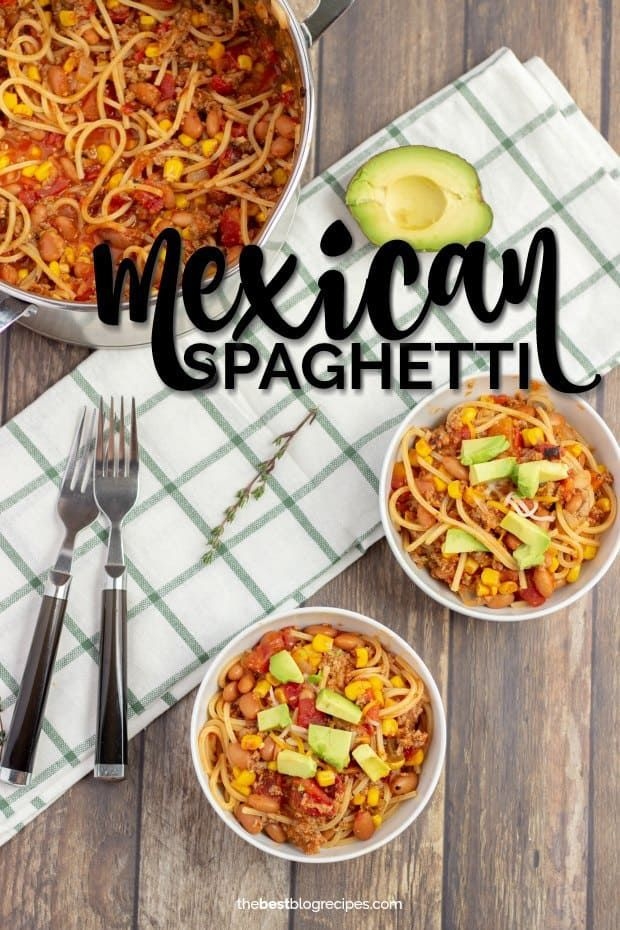 Easy Mexican Spaghetti | The Best Blog Recipes