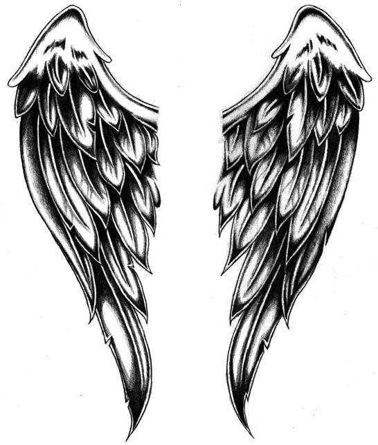 Angel wings tattoo  1  Pinterest  Alas Tatuajes y Remera