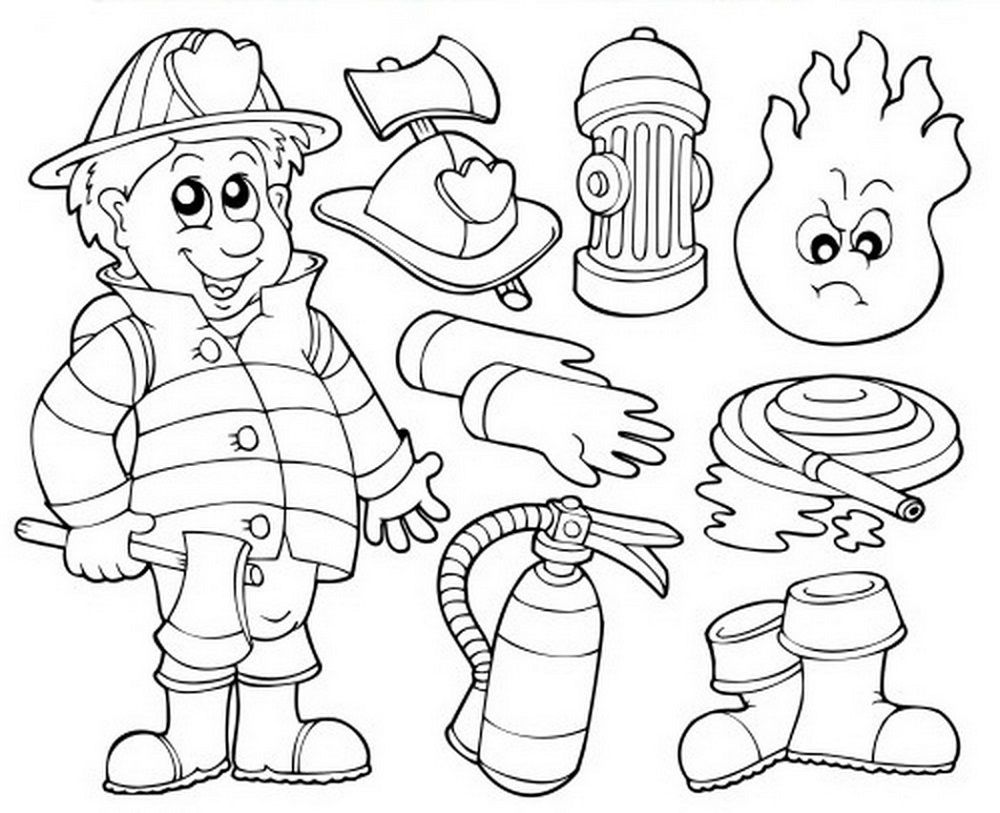 Dltk Crafts Printable Fireman For Kids K5 Worksheets Summer Coloring Pages Coloring Pages Summer Coloring Sheets