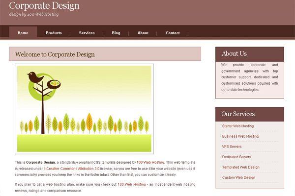 Corporate Design free website template