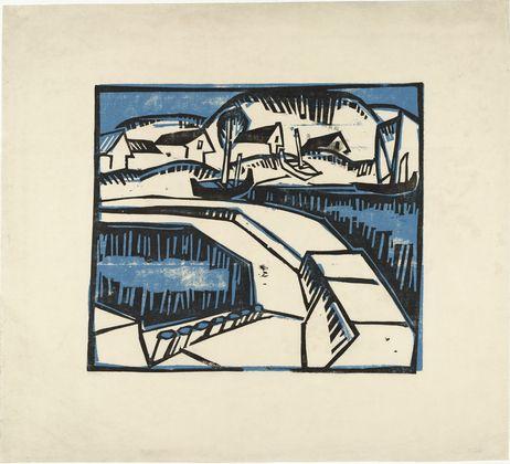 Dunes and Pier (Dünen und Mole)  Karl Schmidt-Rottluff, 1923, Woodcut