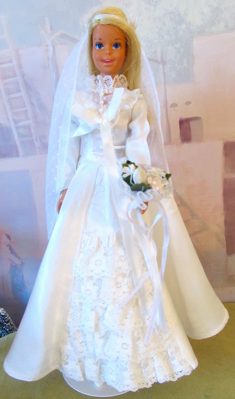 Doll wedding dress  Vintage Barbie Doll Casey Bride TNT Bendable Legs Mattel s Japan