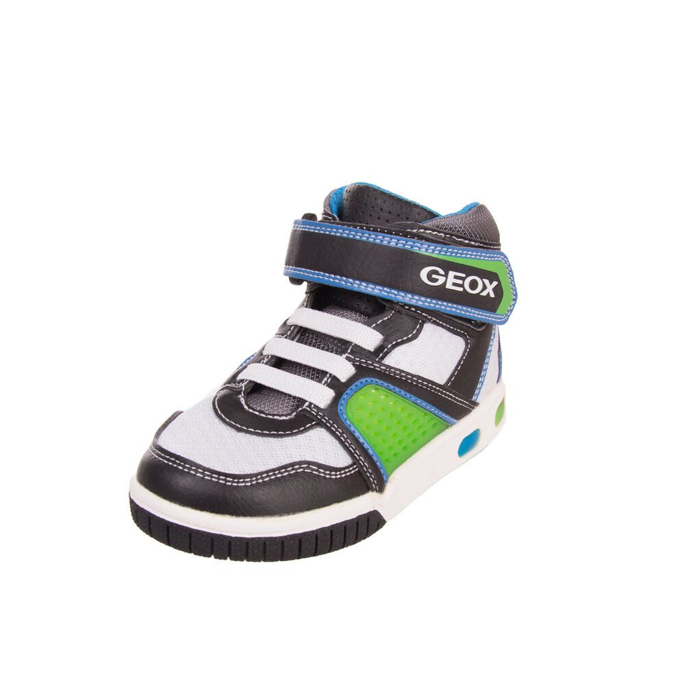 Geox Sport BlackBlue Trainers with Lights