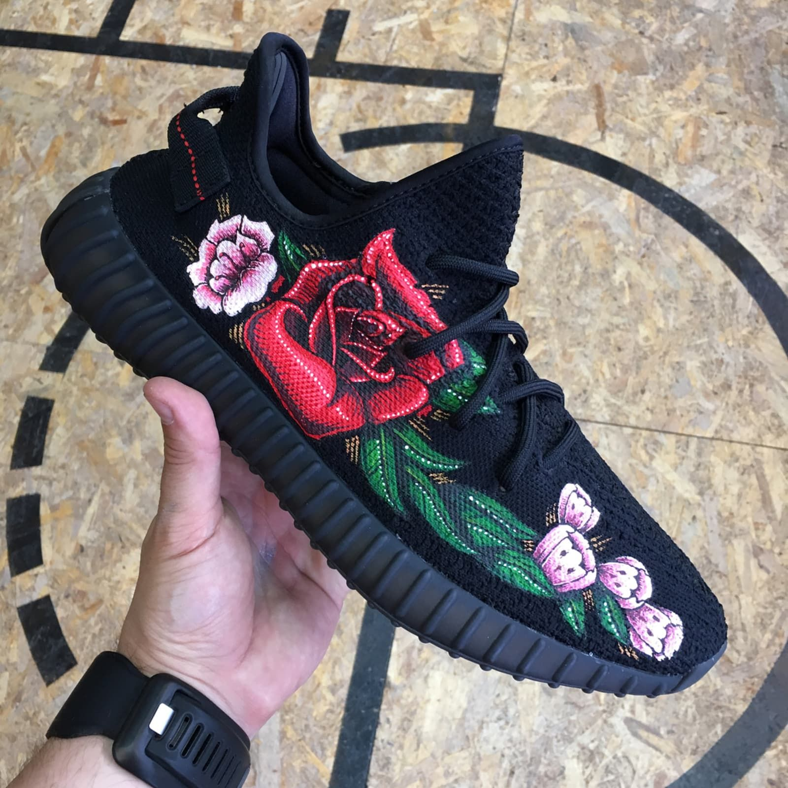 36d41e8be Adidas Yeezy 350 Boost V2 Customs: Flowers by MelonKicks - The Best Adidas  Yeezy 350 Boost V2 Customs | Sole Collector