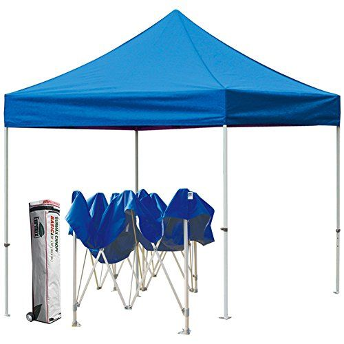Eurmax Basic 10x10 Pop Up Tent Instant Commercial Outdoor Canopy With Wheeled Carry Bag Blue Be Sure To Check Ou With Images Canopy Outdoor Best Tents For Camping Tent