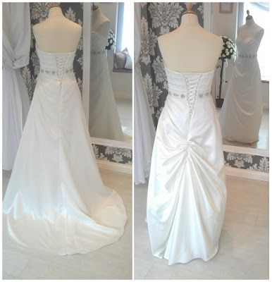 Gorgeous Example Of An Austrian Bustle On A Wedding Dress With A