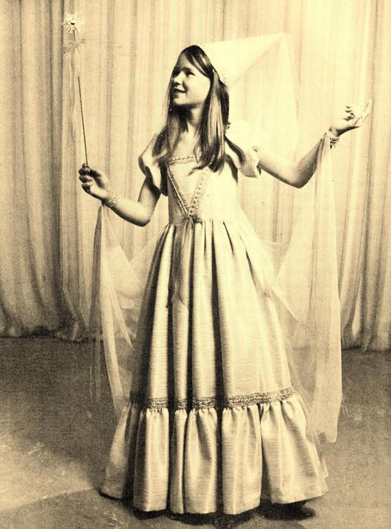 Original Vintage Sewing Pattern Princess Costume Fancy Dress ...